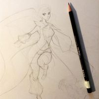 Feather Dancer WIP by Aiseph