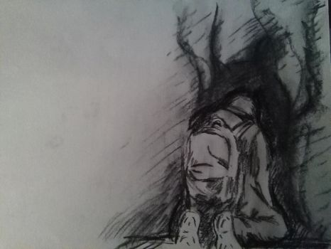 BASTARD (one minute charcoal sketch) by jhasthedeathnote