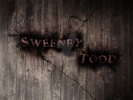 Sweeney Todd Typography LP by Sonic-Gal007