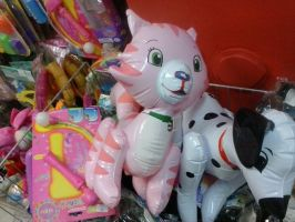 Inflatable Custard Cat Toy 1 by PoKeMoNosterfanZG