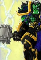 Thrall in his Element by llMonstersll
