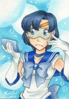 Sketch Cards - Sailor Mercury by Karmada