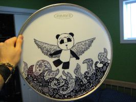 Drumhead- Winged Panda Back by mattwalker21