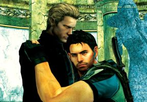 Resient Evil - Wesker and Chris by Captain-AlbertWesker