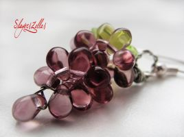 Purple grapes earrings by Benia1991