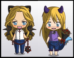Chibis of my girls~ by vampeva-97
