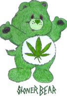stoner bear by djdaztec