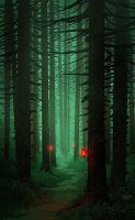 Red Lanterns by Balaskas