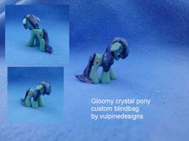 MLP FiM custom blindbag: Gloomy Crystal Pony by vulpinedesigns
