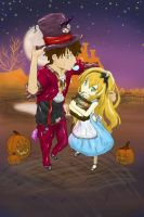 April And Cole Trick Or Treat by katastra