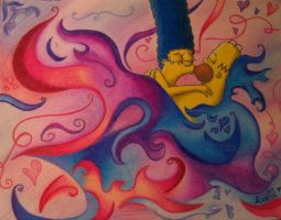 Marge and Homer MadLy Love by Wilbur-distiny