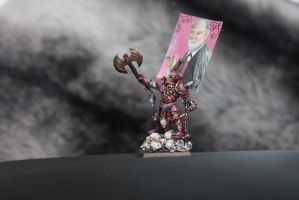 Khorne Champion- Pink Freud style by Insuppressible