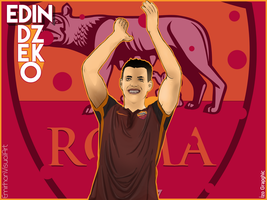 Edin Dzeko Vector Work ! by izographic