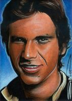 Han Solo - Sketch Card by RandySiplon