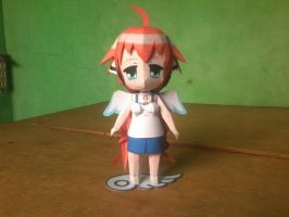 Chibi Ikaros Figurine Paper Model by MarcGo26