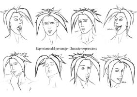 EXPRESIONES DEL PERSONAJE - CHARACTER EXPRESSIONS by RBN-sama