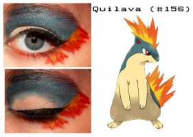 Pokemakeup 156 Quilava by nazzara