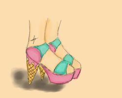 Ice Cream Shoe by LittleLady-xxx