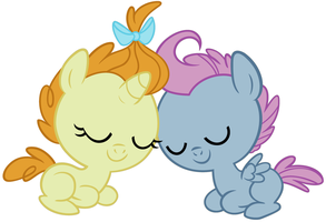 Pumpkin Cake and Shining Star are sleeping by 3D4D