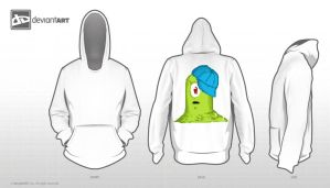 green blob monster hoodie by Kalana321