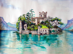 Isola di Loreto Castle by great-queen-morrigan