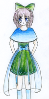 Blue/Green clothes manga girl by TaitRochelle