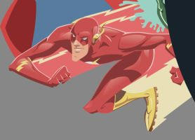 Superfriends Detail - Flash by AndrewJHarmon