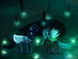 Request: vortax and queen chrysalis by AquaAngel1010