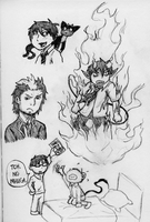 Ao no Exorcist Doodles by ChibiAddict