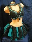 black and teal lolita burlesque outfit by BacktoEarthCreations