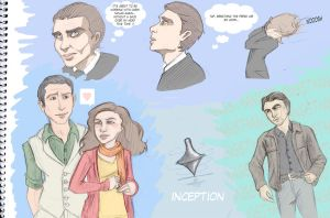 Inception Sketches by SnowFright