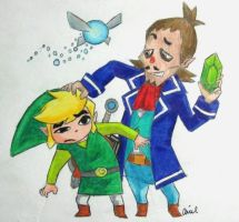 Link and Linebeck by Beatles4Ever