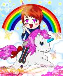 Gee and little pony by NadzEscapade