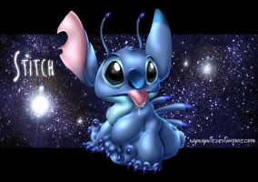 Stitch in 3D by kaykaykit