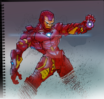 Square Sketchbook: IronMan by Todd3point0