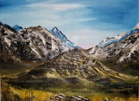 Edoras Oil-Painting by Aronja