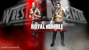 WWE Royal Rumble 2013 - The Rock vs. CM Punk by MarcusMarcel
