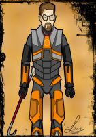 Half-Life 2 : Gordon Freeman by DeerCrowShadow