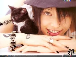 Miyavi and Kitty Desktop by Verlandi