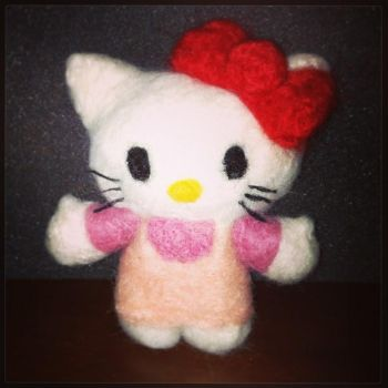 Needle Felting: Hello Kitty by Avi-Ayuni