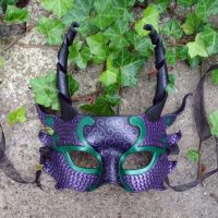 Purple and Green Dragon Mask by merimask