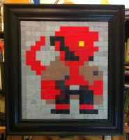 8-bit Hellboy by thesometimers