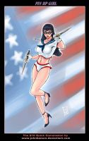 $10Commission: Pin Up Girl by johnbecaro