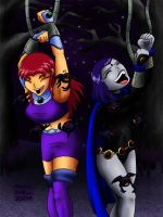 Raven and Starfire 2 by SnailShell