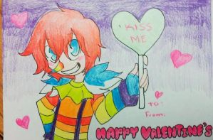 Colorful Laughing Jack V-Day Card by sonyasoniclover12