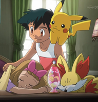 AmourShipping     ash and serena sweet dreams hone by Darkramiess