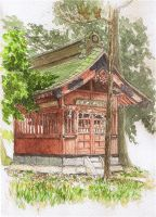 Local Benten shrine by blacktsubu