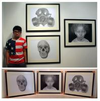 Future (me and artworks in exhibition) by chong-yi