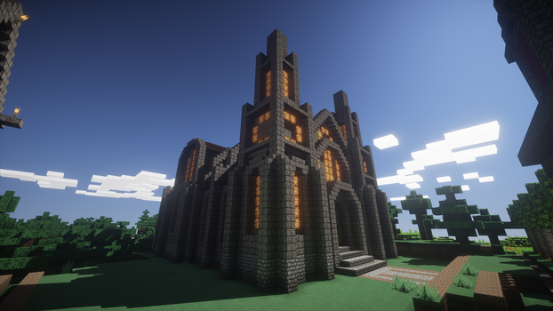 Minecraft small cathedral by apromede