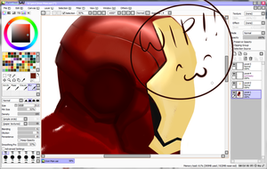 WIP Iron Man by invaderwolfgirl